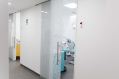 Porte Henry glass in studio Dentistico a Trento